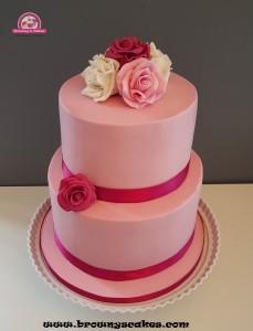 Bruiloft taart  rozen- wedding cake