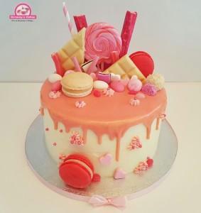 Blush Pink Drip Cake