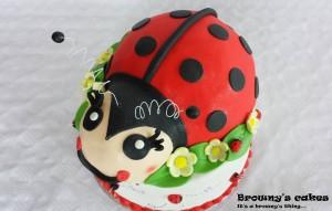 3D Lieveheersbeestje taart