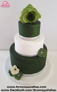 Bruiloft taart rose rozen - wedding cake