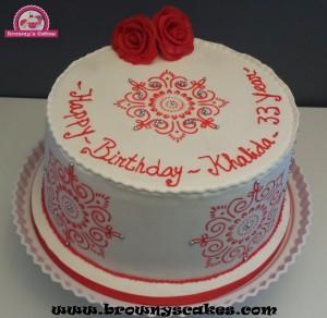 Henna symbol taart