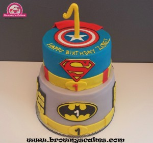 Super heros taart
