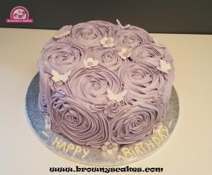 Boter creme roses taart