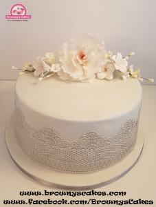 Bruiloft taart - wedding cake off white